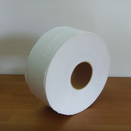 White Recycled 2-Ply Jumbo Jr. Bathroom Tissue